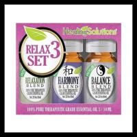 Terbaik Relax 3 Gift Set Essential Oil 10 Ml