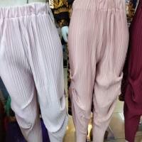 Celana cubit / celana balon plisket import
