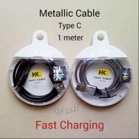 Metallic Kabel Data Charger USB Tipe Type C - Samsung Oppo Xiaomi Vivo