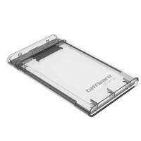"Taffware HDD SSD Enclosure Casing Eksternal Transparant 2.5"" USB 3.0"