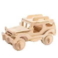 Mainan Edukasi Anak Puzzle Kayu 3D Mobil Jeep