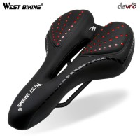Jok Sadel Sepeda - Silicone Gel Cushion - PU Leather - West Biking 086