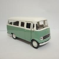 Diecast mobil Vw minibus Mercedes benz L319 mainan model miniatur