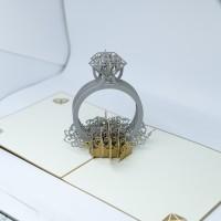 READY kartu ucapan 3D cincin kawin menikah married termurah COD