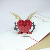 kartu ucapan 3D love arrow married menikah kawin wishes card TERMURAH