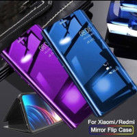 Flip Mirror Case Samsung Galaxy J3 Pro 2017 Clear View Standing Cover