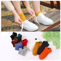 KK27 Kaos Kaki Pendek Wanita Japanese Candy Color Women Ankle Socks