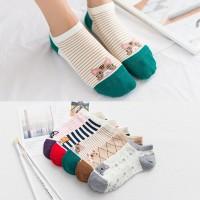 KK32 Kaos Kaki Pendek Wanita Love Kitten Women Ankle Socks