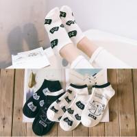 KK30 Kaos Kaki Pendek Wanita Japanese Shibuya Cat Women Ankle Socks