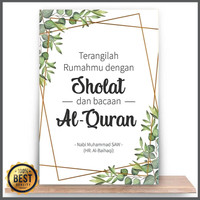 Hiasan Dinding Kayu Islami Pajangan Rumah Dekorasi Kamar KGF3 Original