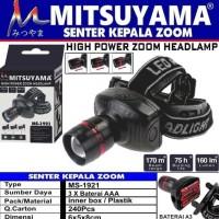 Senter Kepala / Headlamp High Power Zoom Mitsuyama MS-1921