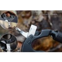 Carabiner Multifunction 5 in 1 Knife Mountaineering Pisau