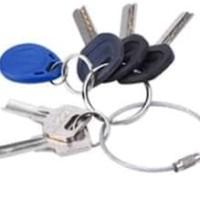 Carabiner Wire Key Ring Chain Stainless Gantungan Kunci Kawat