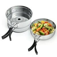 Cooking Set Kukusan Camping bukan Consina, Dhaulagiri atau Eiger