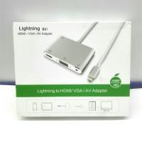 Converter Lightning To VGA HDMI Audio kualitas Mantap