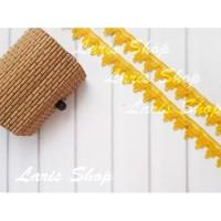 Renda Hias Hantaran Pernikahan Model 3 Gelombang Kuning