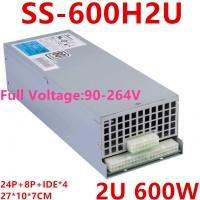 New PSU For SeaSonic 2U APFC F0 80+ 600W Power Supply SS-600H2U