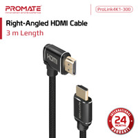 Kabel HDMI Siku 3 meter - ProLink4K1-300 Right Angled Cable 3m PROMATE