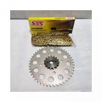 Gear set SSS CB150R - CB150R LED - CBR150 size 428 15T 46T Rantai SSS