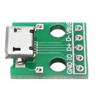 LAKU BANGET 10pcs Micro USB To Dip Female Socket B Type Microphon