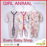 tutup kaki velvet junior dreamwear piyama 3 bayi pcs sleepsuit