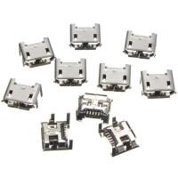 LAKU BANGET 10pcs Micro USB Type B 5 Pin Female Socket 4 Vertical