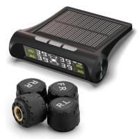 Pengukur tekanan ban Real Time TPMS Solar Deteksi tekanan Angin Mobil