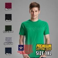 Kaos Oblong New States Apparel Premium Cotton 7200 ( SIZE 3XL )