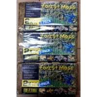 Exoterra Forest Moss 2 pack-alas kandang reptile-torto