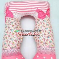 Bantal Hamil Motif Bunga Maternity Pillows U shape
