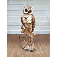 patung pajangan burung hantu miniatur owl jumbo