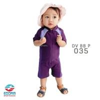 Baju Renang Bayi Cewek 1-3th warna Ungu