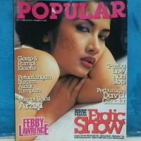Majalah popular cover febby lawrence plus poster edisi agustus 1999