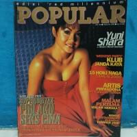 Majalah popular cover yuni shara plus poster edisi januari 2000