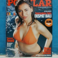 Majalah popular cover olga melendrez cruz plus poster agustus 2003