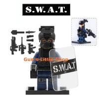 Brick POGO XINH - SWAT Riot Police Army Terorist Lego Tanpa Dus