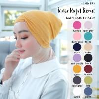 Inner Rajut Kerut - Ciput Rajut Kupluk - Dalaman Hijab