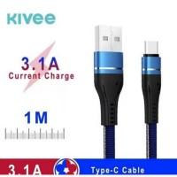 KIVEE Kabel Data Type C Fast Charging 3.1A CH071 1C - 1 Meter Blue