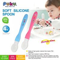 Puku Sendok Makan Silikon Anak Baby Soft Silicone Spoon 14316