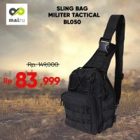 Tas Sling Bag selempang Army Mairu BL050 Militer Tactical