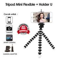 Portable Tripod Mini Hp Flexible Multifungsi + Holder U Tripod For Cam