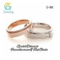 Cincin Couple Cincin Kawin Tunangan Perak Sepasang G-188