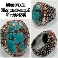 cincin batu akik pirus persia 23155