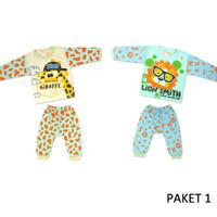 Baju tidur bayi, setelan anak umur 6 bulan 1 set isi 2 pcs Size M - 3-6 Bulan