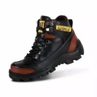 Sepatu Safety Boots Pria Caterpillar Wood Terlaris