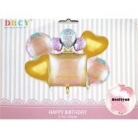 Balon Foil Set Ulang Tahun / Paket ulang Tahun / Balon Happy Birthday