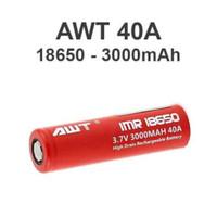 AWT 3000 Mah 40A 3.7V - imr 18650 - battery batere baterai vape vapor