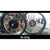 Sepaket velg jari jari rx king diameter 17 depan belakang velg rossi 1
