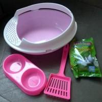 Termurah ! Bak Pasir Kucing/ Toilet Kucing Paket Komplit