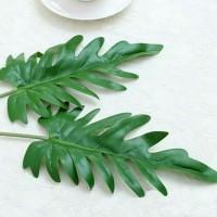 D05 Daun Plastik Philodendron Monstera daun monstera dekorasi pesta
